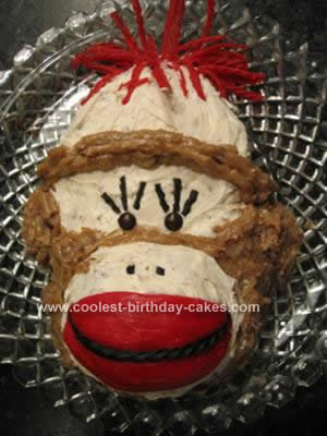Homemade Sock Monkey Cake Design
