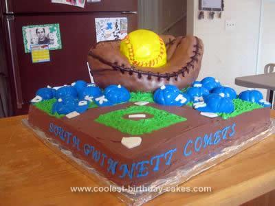 Homemade Soft Ball End of League Cake