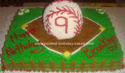 Homemade Softball Cake