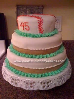 Homemade Softball Cake Design