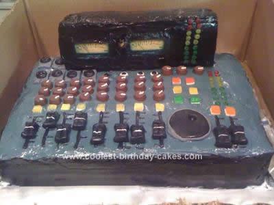 Homemade Sound Board Birthday Cake Design