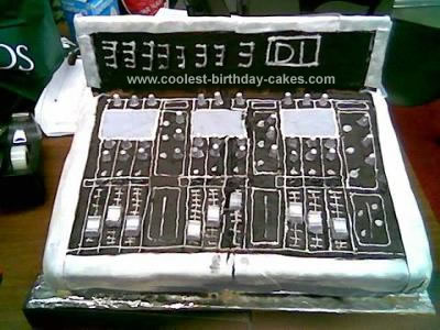 Homemade Sound Board Cake