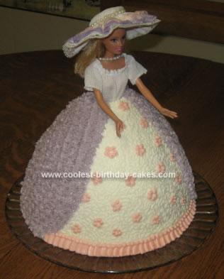 Homemade Southern Belle Doll Birthday Cake
