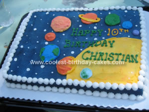 Coolest Space Birthday Cake 7