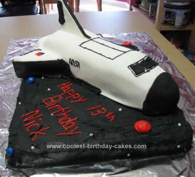 Homemade Space Shuttle Birthday Cake Design