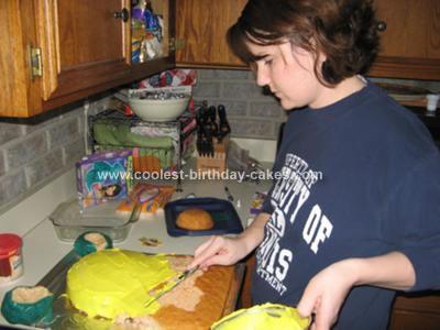 Homemade Special Agent Oso Cake
