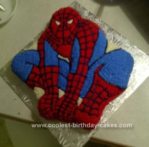 Spiderman cakes 8 for Spiderman template for cake