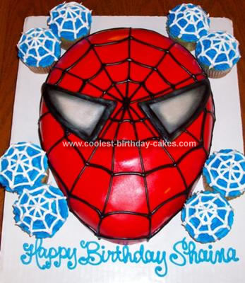5th Birthday Spiderman Cake
