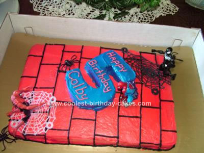 Spiderman Birthday Cake on Coolest Spiderman Birthday Cake 97