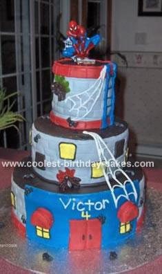 Spiderman Birthday Cakes on Coolest Spiderman Cake 56 21344587 Jpg
