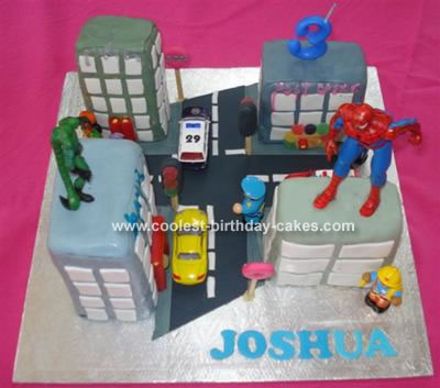Spiderman Birthday Cake on Coolest Spiderman Cake 58