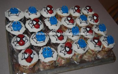Spiderman Birthday Cakes on Coolest Spiderman Cupcakes 61 21335563 Jpg