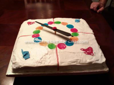 Homemade Spinning Twister Cake