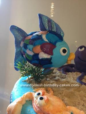 Homemade Splish Splash Fish Bash Cake