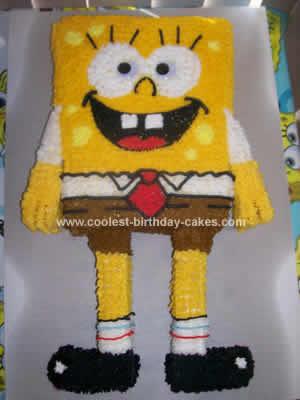 Homemade Spongebob Cake
