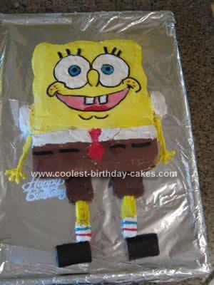 Homemade Spongebob Cake Design