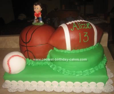 Birthday Cake  on All About Sports  Sport Balls