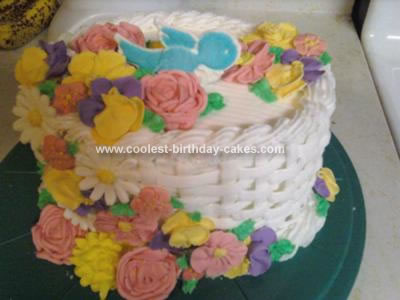 Homemade Spring Flower Basket Cake
