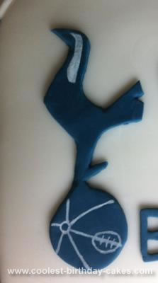 Homemade Spurs Football Cake