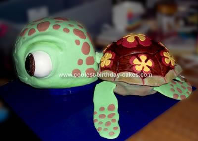 Homemade Squirt 3D Turtle Cake