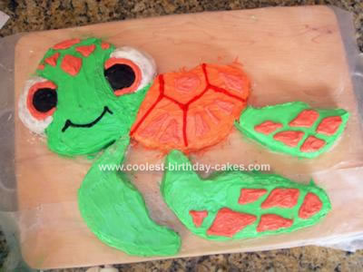 Homemade Squirt from Finding Nemo Cake