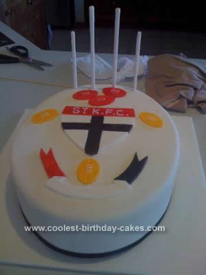 Homemade St Kilda Football Birthday Cake