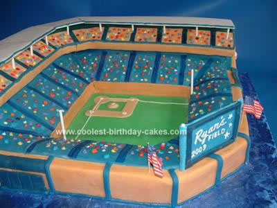 Homemade Stadium Cake