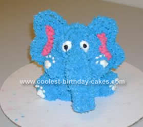 Homemade Standup Elephant Cake