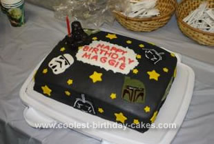 Homemade Star Wars Cake