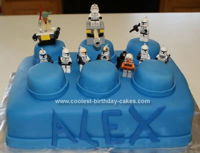 Homemade Star Wars Lego Cake
