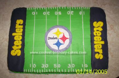Homemade Steelers Cake