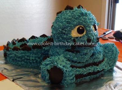 Coolest Stegasaurus Birthday Cake
