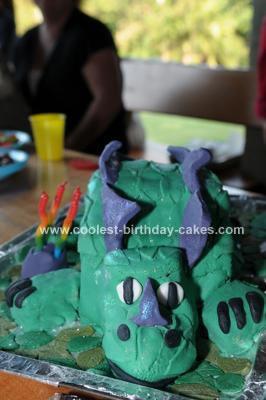Homemade Stegosaurus Cake