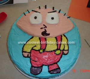 Homemade Stewie Birthday Cake