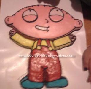 Homemade Stewie Griffin Birthday Cake