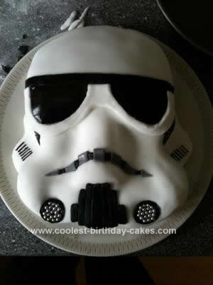 Homemade Storm Trooper Birthday Cake