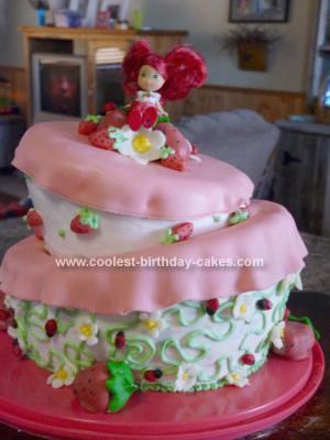 Coolest Strawberry Shortcake Birthday Cake