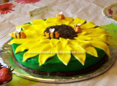 Homemade Sunflower Birthday Cake
