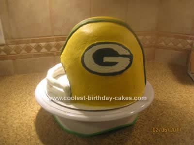 Homemade Super Bowl Cake Design