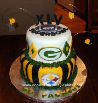 Homemade Super Bowl XLV Cake