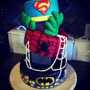 Superheroes Scene Birthday Cakes