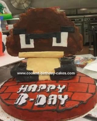Super Mario Birthday Cake on Coolest Super Mario 8 Bit Goomba Cake 29