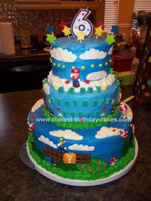 Mario Birthday Cake on Coolest Super Mario Bros  6th Birthday Cake 39