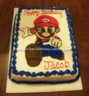 Mario Birthday Cake on Coolest Super Mario Bros Birthday Cake 20