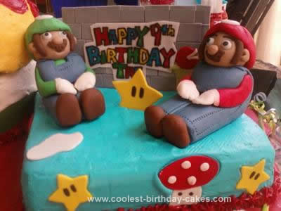 Homemade Super Mario Bros Cake
