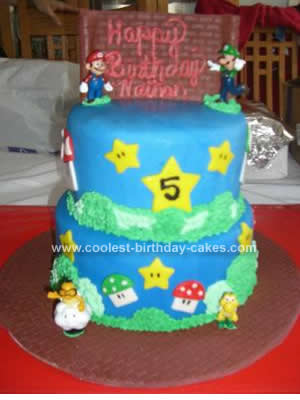 Super Mario Bros Birthday Cake Cupcake Ideas