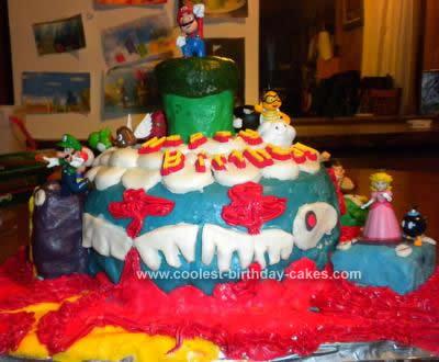 Homemade Super Mario Wii Cake