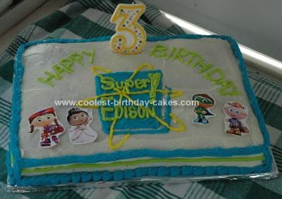 Homemade Super Why Cake