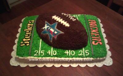 Homemade Superbowl Cake