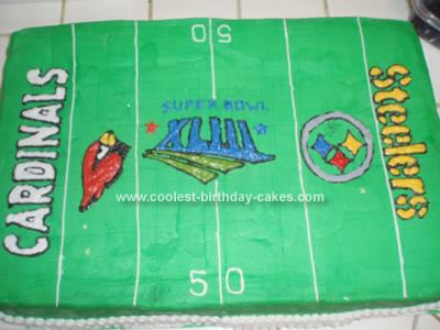 Homemade Superbowl Field Cake